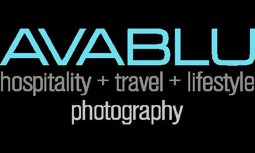 AVABLU hospitality travel lifestyle photography logo